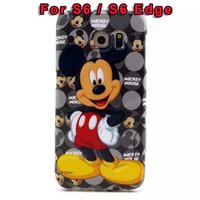 Wholesale Silicon Flag - Fashion Mickey Minnie Mouse Nutella Owl Camera USA Flag Elephant Soft TPU Case For Samsung Galaxy S6 G9200 S6 Edge G925 Silicon Skin Cartoon