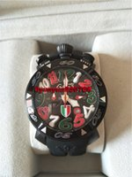 Wholesale Gaga Watches Italy - Gaga watch Large dial quartz watch the trend of fashion italy flag natural rubber watch