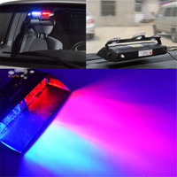 Wholesale red warning light car - S2 Viper Federal Signal 16pcs High Power Led Car Strobe Light Auto Warn Light Police Light LED Emergency Lights 12V Car Front Light