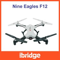 Wholesale Nine Eagles Free Shipping - Wholesale-Hot sell ! Nine Eagles Galaxy Visitor 3 F12 2.4G 4-Axis Auto-Return Mini RC Quadcopter with Camera RTF + Free ship