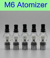 Wholesale Ego Battery Cartomizer - 2015 Glass Wax M6 Atomizer Glass Tank Clearomizer 4.0ml Vaporizer Solid Smoke Oil Cartomizer For eGo EVOD Vision Battery