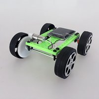 Wholesale Electric Car Solar - Wholesale- DIY small toy car DIY solar toy electric car exercise brainpower to help children grow quickly