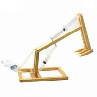 wissenschaft maschine großhandel-1 Satz DIY Montage Holzbau Modelle Spielzeug Wissenschaft Pädagogische Kolben Graben Maschine Kits Baby Kinder Spielzeug für Kinder Geschenke