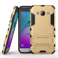 Armour Hybrid Case pour Samsung Galaxy J3 Moto X Force Droid Turbo 2 E3 Huawei Honor V9 Play 5X Hard PC TPU Iron Man Stand Housse pour peau 200pcs