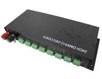 müzik rf uzaktan kumandalı rgb toptan satış-Kuzey amerika'ya ücretsiz gönderim 24 kanal dmx rgb kontrolcü dmx dekoder girişi DC12V / 24V dmx grubu veya led ışıkları piksel kontrolü için kullanılan