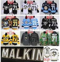 Ice Hockey outlet sky - Factory Outlet Cheap Pittsburgh Penguins Evgeni Malkin Jerseys Home Black Road White Sky Navy Blue Evgeni Malkin Stitched Jer
