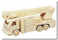 Wholesale Wooden Military Toys - Wholesale-Scale Educational Toys Diy Cars Wooden 3D Jigsaw Puzzle Model Fire Truck