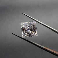 ingrosso diamanti tagliati allentati-Pietre cubiche di Zirconia di forma quadrata Chiaro diamante allentato sintetico della macchina di qualità superiore diretta della fabbrica per fabbricazione di gioielli 500pcs / Lot