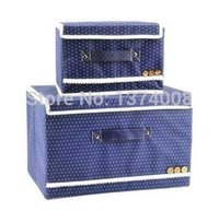 Wholesale 2014 New Tuba Trumpet Blue Bag Covered Underwear Storage Box Specials Clothes Cosmetic Boxs HOT