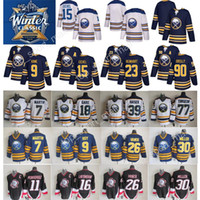Wholesale Evander Kane - 2018 Winter Classic Jerseys AD Buffalo Sabres 15 Jack Eichel Jersey 90 Ryan O'Reilly 9 Evander Kane Sam Reinhart Throwback Hockey Blue White