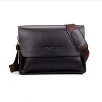 Wholesale I Pad Bags - Classic men briefcase Genunie leather vertical soft cowhide shoulder bag casual bag man horizontal messenger bag laptop I pad free shipping