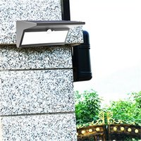 Wholesale Outdoor Lamp Shades - 2017 NEW Solar Power lights outdoor garden lighting LED super bright lighting rechargeable motion sensor T Shade wall lamp street lamps