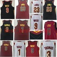 Wholesale Thomas Top - 2017-2018 New 23 LeBron James 9 Dwyane Wade jersey 17-18 Top sales Men #1 Derrick Ros #3 Isiah Thomas stitched jerseys Free Shipping