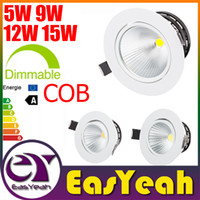 "Wholesale Led Lights 3.5 Inch - Newest Design 3.5"" 4.5 inch CREE 5W 9W 12W 15W COB LED Downlight Tiltable Fixture Recessed Ceiling Bedroom Down Lights Lamps CSA SAA UL CE"