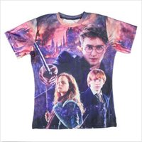 Wholesale High Fashion T Shirt Men - 2015 High Quality 3D Movie Star Harry Potter t shirt hot selling Round neck T Shirt fashion Tshirt For Men women FG1510