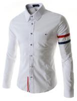 camisa magro dos homens do ajuste magro venda por atacado-FG1509 Camisa Dos Homens 2015 Casual Slim Fit Camisa Marca Mens Vestido Camisa Masculina Estilo Coreano Preta Camisas Longas Desinger
