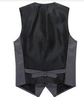 Wholesale Dresses Beckham - Fall-2015 New Fashion Beckham Vest Men's V-necked vest European Style Dress Business Suit Vest Men Gilet Colete Fashion Waistcoats