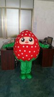 Wholesale Cute Mascot Costumes - 2017 High quality strawberry mascot costume cute cartoon clothing factory customized private custom props walking dolls doll clothing
