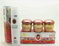 Wholesale New Yiqi Whitening Cream - Wholesale-New packing Golden YiQi cream Beauty Whitening 2+1Effective In 7days purple high bottle hardcover ABC cream+cleanser+2pcs gifts