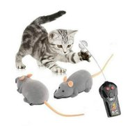 Wholesale Control Rats - New Arrive 3 Colors Remote Control Electronic Wireless Rat Mouse Cat Pet Gift Funny Toy Hot