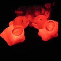 elefantenlampen großhandel-Bunte nachtlicht neuheit leuchtende paar elefanten lampe niedlich pvc led lichter für wohnkultur 1 25lp b r