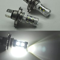 2 x 50W Bright White H4 CREE LED brouillard Daytime lumière ampoule phare Led voiture brouillard conduite DRL ampoule phare Daytime Running Light