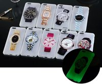 Lueur dans l'obscurité Ultrathin Noctilucent Watch Style Design dur PC housse pour iPhone 6 plus iphone6 ​​i6