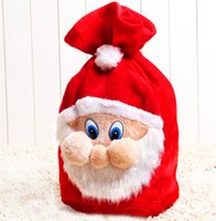 Wholesale Gift Wrap Big - Santa Bag Christmas Bag Gift Bag Big Size Christmas Santa Claus Gift Bag Sack Wrap Drawstring Reusable Xmas Decor