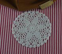 handgefertigte häkeltücher groihandel-handgemachte gehäkelte Deckchen Vintage Blume, Spitze häkeln Deckchen Tasse Matte Vase Matte Coaster 15cm / 6