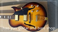 100% Real Pictures Vintage Sunburst Acabamento L5 Guitarras Electric Hollow Body China Guitars For Sale