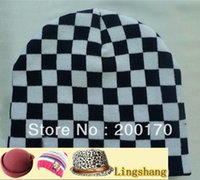 Wholesale Low Priced Knitted Hats - Wholesale-Free Shipping Low Price Top Quality Handsome Checked Knitted Hats Skullies & Beanies,LSK5