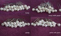 Wholesale Ivory Hair Pins - 200 PCS IVORY  WHITE PEARL WEDDING BRIDAL BRIDE PROM HAIR BOBBY PIN Headress WEDDING Accessories Hairpins