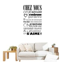 """Wholesale Wall Stickers French - S5Q """"In This House"""" Of French Versions Wall Stickers Art Decals Home Decorations AAAFHX"""