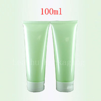 Wholesale Glass Shampoo Bottles - 100ml X 50 Empty Light Green Soft Lotion Tube Cosmetics Packaging,100g shampoo Plastic Bottles , Skin Care Cream Containers Tube
