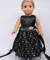 Wholesale Dresses For Big Figure - Toy xmas GIFT Handmade Doll Clothes For 18 inch American girl doll dress colorful
