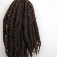 Wholesale hair 33 online - Afro Kinky Marley Braid Hair inch g Dark Auburn Brown Kanekalon Synthetic braids twist Hair Extensions colors