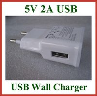 Wholesale Galaxy S3 Power Supply - 300pcs USB Wall Charger 5V 2A EU US Plug AC Travel Adapter for Galaxy Note 2 3 N7100 N9000 S3 S4 S5 I9600 Power Supply High Quality