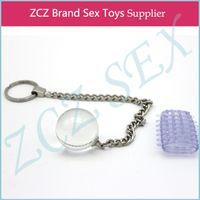 seks için cam oyuncakları toptan satış-ZCZ Cam Oyuncak Ve Horoz Halka Kadınlar için Yüksek Kalite Yapay Penis Anal Plug Seks Cam Geyşa Topu DX243-8