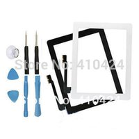 bestellen digitizer touchscreen großhandel-Touchscreen LCD Glas Digitizer Objektiv Reparatur Teil für iPad 3 3rd + Schraubendreher Werkzeuge bestellen $ 18no Spur