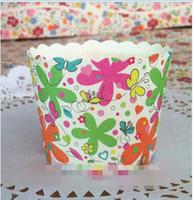 ingrosso supporto della muffin della torta della tazza-Tovaglioli rotondi per carta da secchio CUSTODIE PER CUPCAKE MUFFIN cuocere il portatarga per tazze da forno