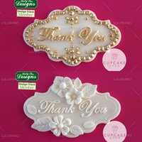 Wholesale Ks Tools - Wholesale- New arrival high quality ks thank you silicone fondant cake decorating tool cake mould