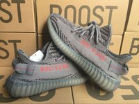 Wholesale Cream Soles - 2017 New 350 Boost V2 Beluga 2.0 Orange Grey AH2203 SPLY 350 Zebra Semi Frozen Yellow With Gum Soles Kanye West Shoes