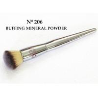 Wholesale Make Up Mineral Professional Powder - Brand Silver Metal Professional Makeup Brushes Ulta it buffing mineral powder 206 kabuki kit Cosmetic Make up Tools