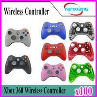 Wholesale Xbox Game Wholesale - 100pcs Xbox 360 2.4GHz Wireless Game Remote Controller Wireless Gamepad Joystick for Xbox360 Controller YX-360-01