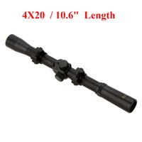 Wholesale Wholesales Scopes - 4X20 Air Rifle Telescopic Scope Sights Riflescopes Hunting Scopes Riflescope for 22 Caliber Rifles and Airsoft Guns