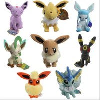 Poke Plush Doll Brinquedos Eevee Elf Stuffed Soft Plush Doll Brinquedos Pocket Monster Stuffed Cartoon Animal Figure Brinquedos 8 design KKA3420