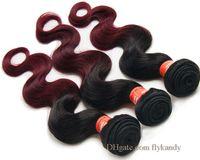 Wholesale Mixed Premium Weave - Premium Ombre 2 Tone Brazilian Body Wave Hair Extension Mixed Color Virgin Human Hair Weft Charming Brazilian Ombre Body Wave Weaving Bundle