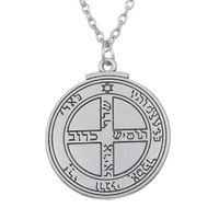 viel glück kristall halskette großhandel-1 Stück Talisman für viel Glück Key of Solomon Pentacle Seal Halskette