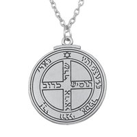 Wholesale Good Luck Crystal Necklace - 1pcs Talisman for Good Luck Key of Solomon Pentacle Seal necklace