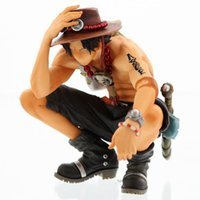 ingrosso figurine di un pezzo-Statuette di anime One Piece King Of Artist Portgas D Ace Action PVC Figure Model Toy 15cm
